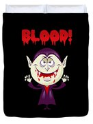Blood Bloody Vampire Halloween Duvet Cover
