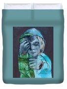 Blue Anorak Duvet Cover