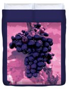 Blue Grape Bunches 6 Duvet Cover