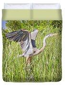 Blue Heron On The Rise Duvet Cover