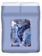 Blue Hummingbird Duvet Cover