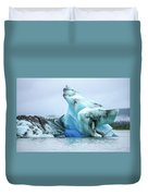 Blue Ice, Mendenhall Glacier Duvet Cover by Dawn Richards