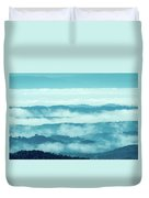 Blue Ridge Mountains Layers Upon Layers In Fog Duvet Cover