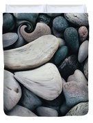Blue Rock Garden Duvet Cover