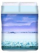 Blue Sky, White Field Duvet Cover