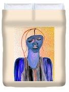 Blue Woman Duvet Cover
