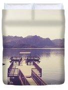 Boat Dock Tonto National Forest Duvet Cover