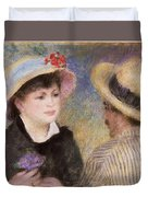 Boating Couple  Said To Be Aline Charigot And Renoir      Duvet Cover