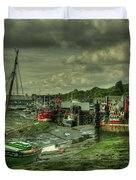 Boats At Leigh On Sea  Duvet Cover