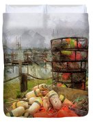 Boats Bumpers Crab Rings And Rope Duvet Cover by Thom Zehrfeld