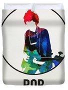 Bob Dylan Watercolor Duvet Cover