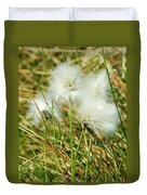 Bog Cotton On The Moor Duvet Cover