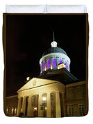 Bonsecours Market At Night In Old Montreal Duvet Cover