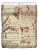 Book Bugs Duvet Cover