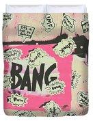 Boom Crash Bang Duvet Cover