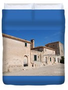 Boquer Valley Building In Majorca Duvet Cover
