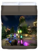 Boston Colored Steam Lights Boston Ma Rose Kennedy Greenway Steamy Duvet Cover
