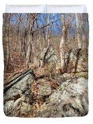 Boulders Along The Trail Duvet Cover