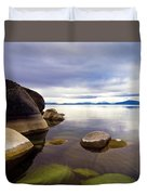 Boulders At Sand Harbor Duvet Cover