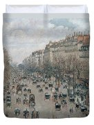Boulevard Montmartre - Afternoon, Sunlight, 1897 Duvet Cover