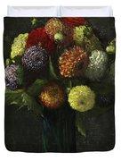 Bouquet Of Dahlias Duvet Cover