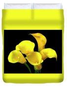 Bouquet Of Yellow Calla Lilies Duvet Cover