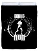 Boxing Mom Combat Sport Martial Arts Training Duvet Cover