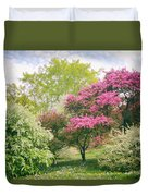Spring Arrives At Daffodil Hill Duvet Cover