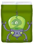 Brainbot Robot With Brain Duvet Cover