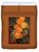 Branch Of Clementines Duvet Cover by Asha Sudhaker Shenoy