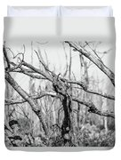 Branches In Black And White Duvet Cover