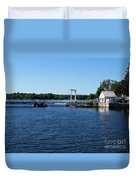 Brass Point Bridge On The Rideau Canal Ontario Duvet Cover