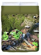 Breeches, Mushrooms And Moss Duvet Cover
