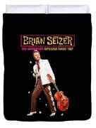 Brian Setzer Christmas Rock 15th 2018 Ajadcode11 Duvet Cover