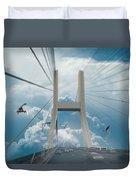 Bridge In The Clouds Duvet Cover