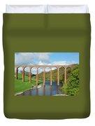 bridge over river Tweed near Melrose towards Gattonside Duvet Cover