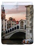 Bridges Of Venice - Rialto Duvet Cover