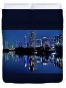 Bright Blue Hour In Austin Duvet Cover