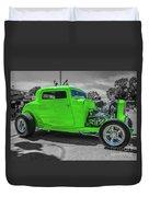 Bright Green Ford Duvet Cover