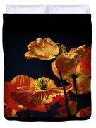 Bright Orange Poppies Duvet Cover