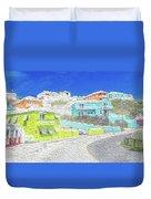 Bright Parish Life Bermuda Duvet Cover