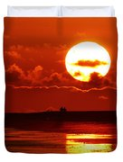 Bright Rota, Spain Sunset Duvet Cover