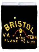 Bristol Sign And The Moon Duvet Cover