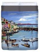 Brixham Harbour Duvet Cover