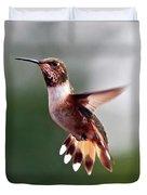 Broad Tailed Hummingbird Duvet Cover