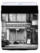 Brooklyn Deli Black White  Duvet Cover
