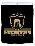 Brooklyn New York Bridge Pride Icon Duvet Cover