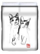Brothers Cats Duvet Cover