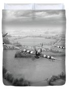Brothers In Arms Bw Version Duvet Cover