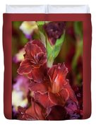 Brown Jewel 5. The Beauty Of Gladiolus Duvet Cover